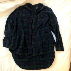 BDG blue/green high-low flannel